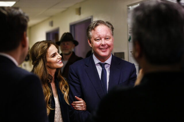 Amy and Brian France at Community Event