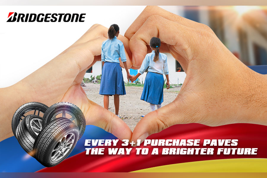 Bridgestone gives away free tires, premium items, and hope