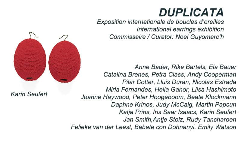 contemporary earrings exhibition jewelry Montreal