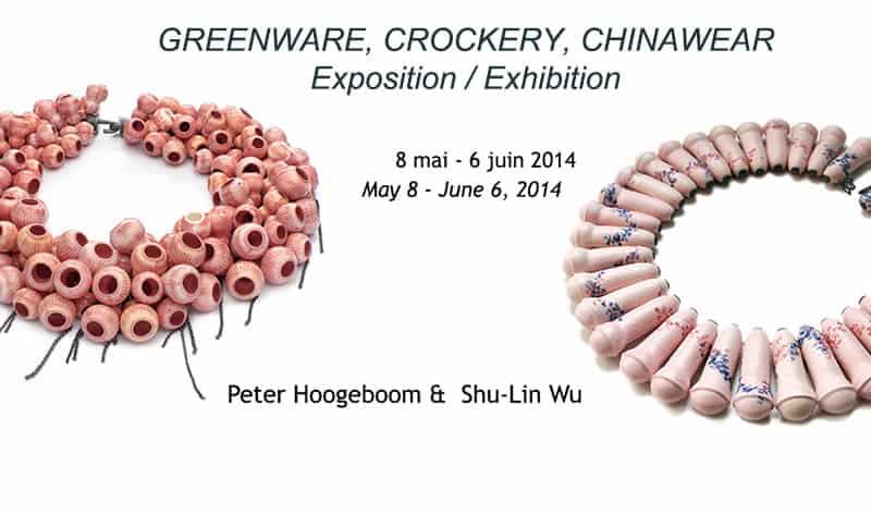 contemporary porcelain jewelry Peter Hoogeboom Shu-Lin Wu