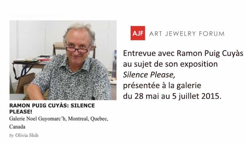 contemporary jewelry Ramon Puig Cuyàs Bijoux contemporains AJF