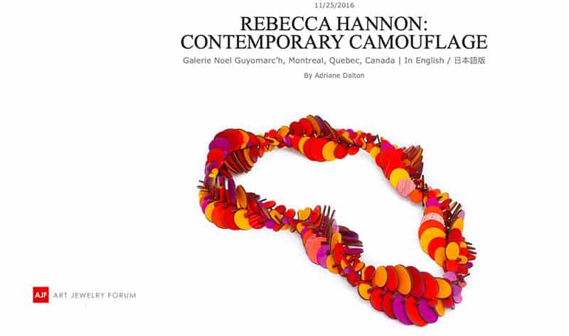 Contemporary Jewelry AJF Rebecca Hannon bijoux contemporains Montréal