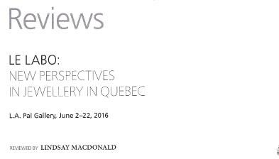 Contemporary Jewelry Le Labo Contemporary Jewelry Montreal