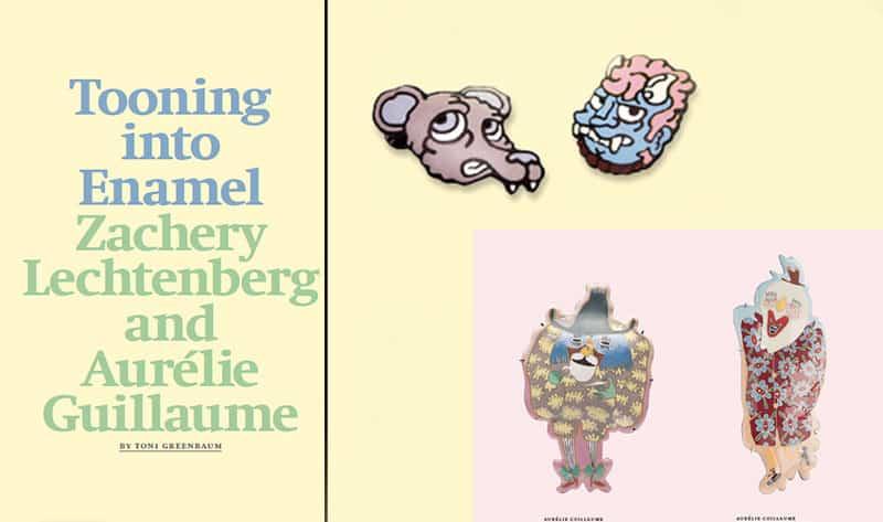 contemporary enamel jewelry Zachery Lechtenberg Aurelie Guillaume Metalsmith