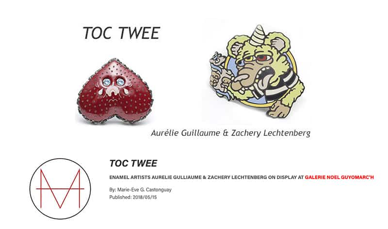 contemporary jewelry Zachery Lechtenberg Mlle Guillaume