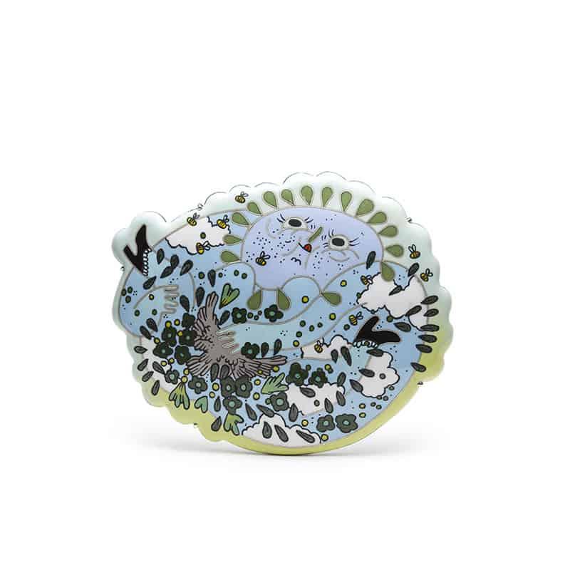 Enamel Contemporary jewelry Mlle Guillaume Bijoux contemporains émail Montreal