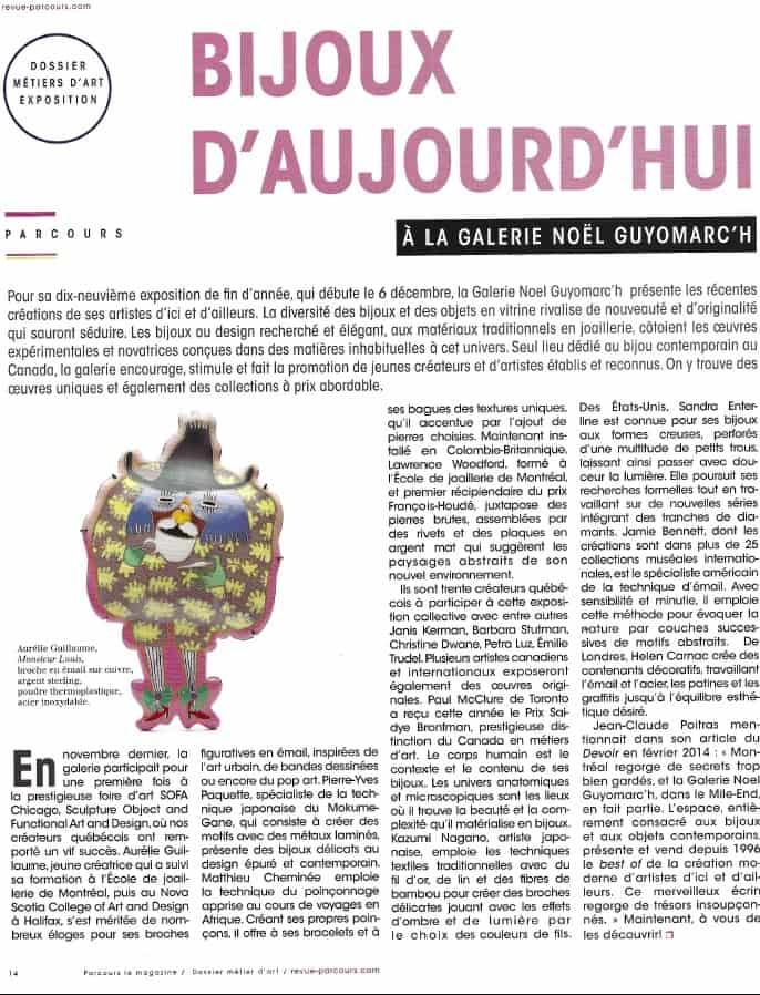 bijoux contemporains Montreal contemporary jewelry