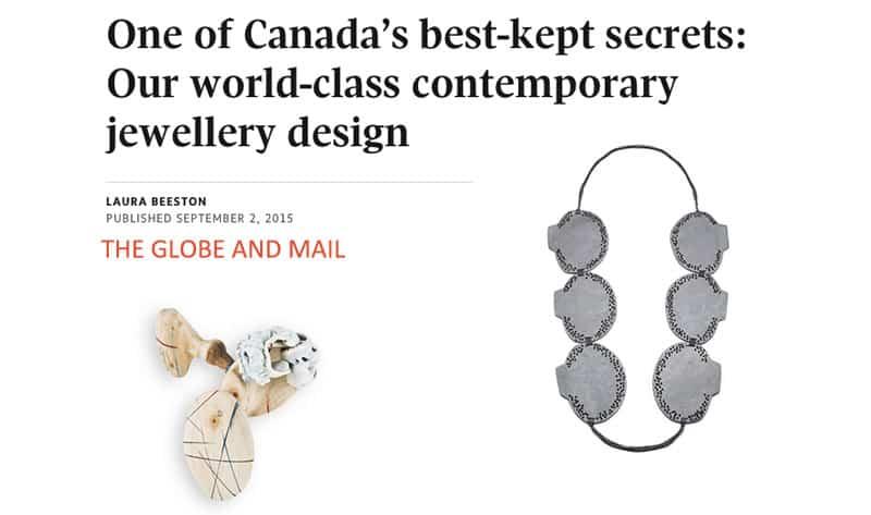 Contemporary jewelry Bijoux contemporains Montreal