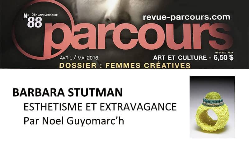 contemporary jewelry Barbara Stutman bijoux contemporains Montreal