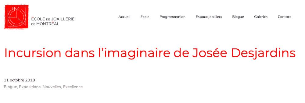Contemporary Jewelry Josée Desjardins bjioux contemporains Montreal