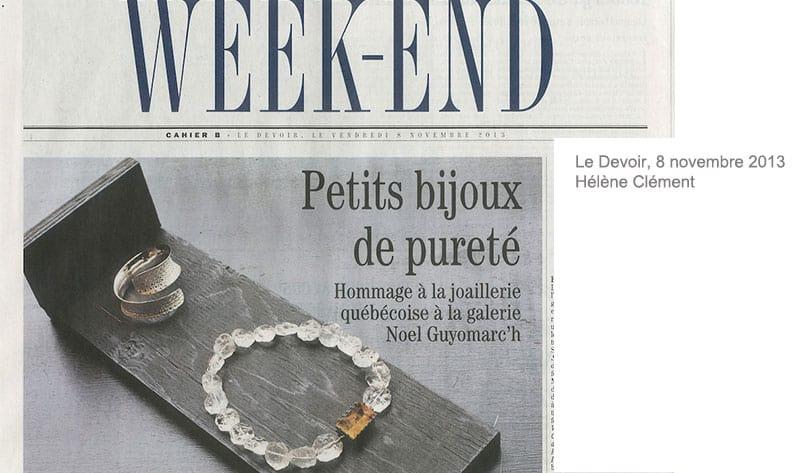 Le Devoir  Montreal Bijoux contemporains