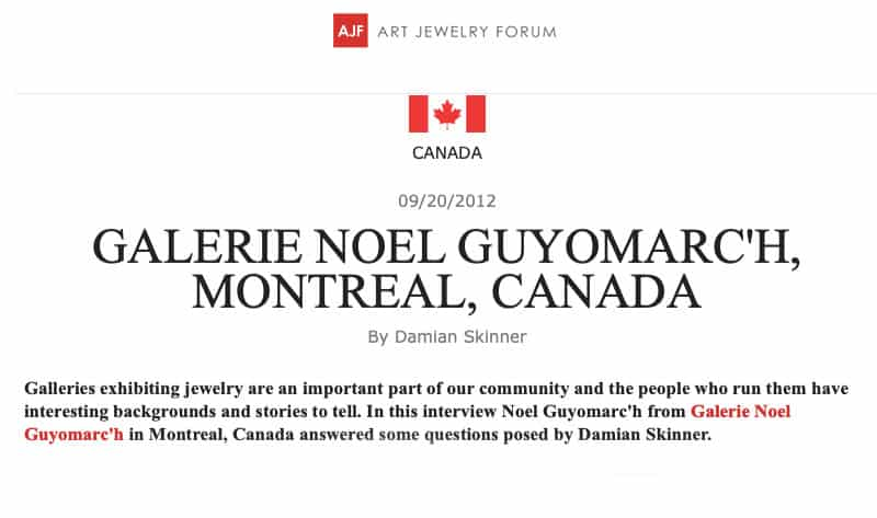 Contemporary Jewelry Art Jewelry Forum Montreal