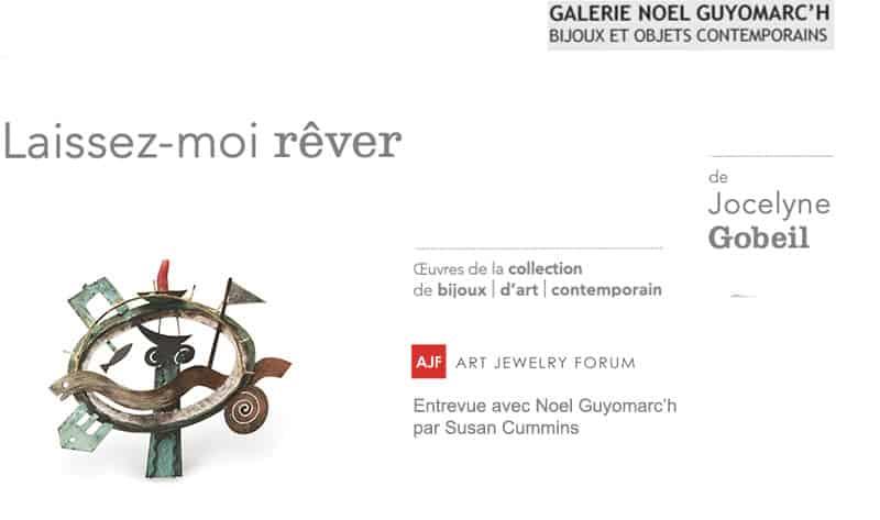 Art Jewelry Forum Jocelyne Gobeil Noel Guyomarc'h