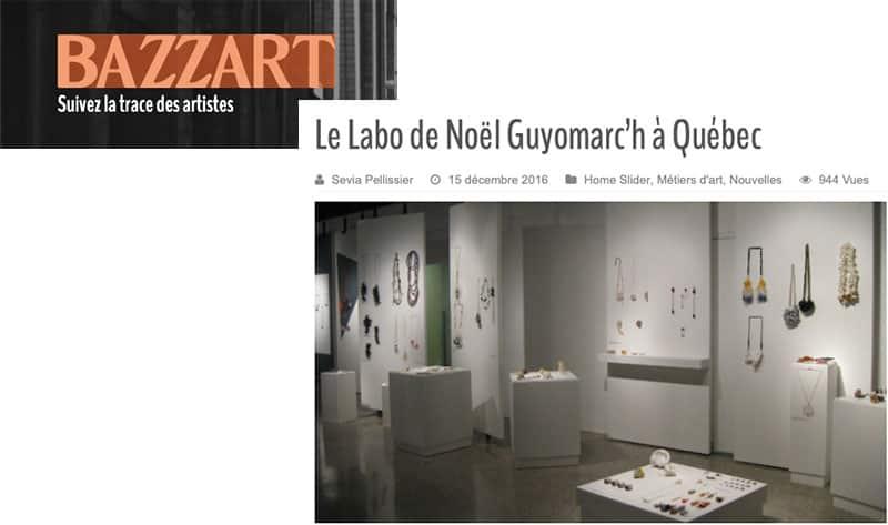 Bazzart Quebec Montreal Bijoux contemporains