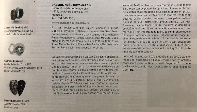Mile End, Montreal Galerie Bijoux contemporains
