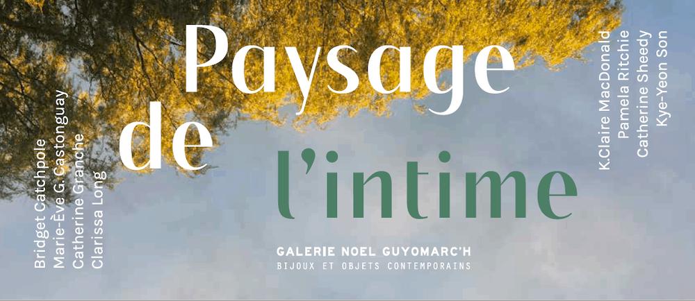 PAYSAGE DE L'INTIME