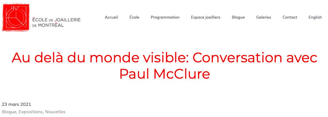 Paul McClure bijoux contemporains