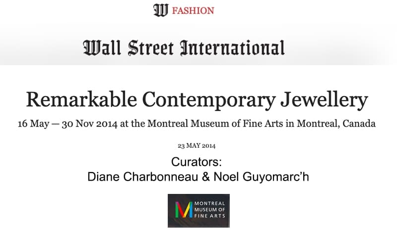 Remarkable Contemporary Jewelry Wall Street International
