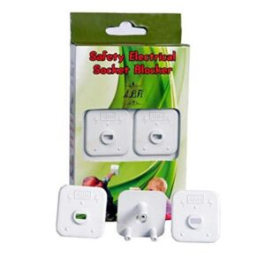 ABH Child Proofing Electrical Socket Cover Guards (White) (Pack of 1 with Free Multi Color Baby Socks 2 Pair)