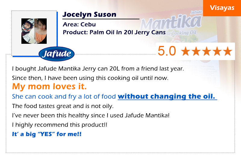 jafude mantika palm cooking oil customer review
