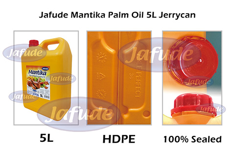 Jafude Mantika Palm Oil 5L Jerrycan-Filipino manufacturers and B2B suppliers of Palm Oil