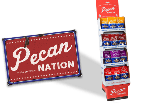 Pecan Nation upright display