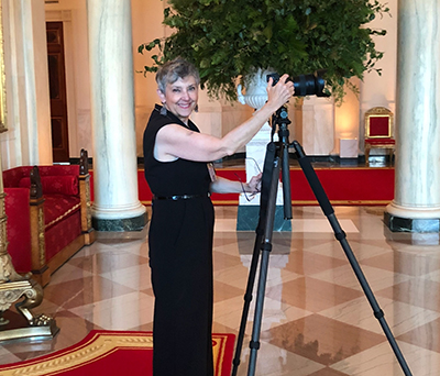 photo of Cynthia DelConte at her camera