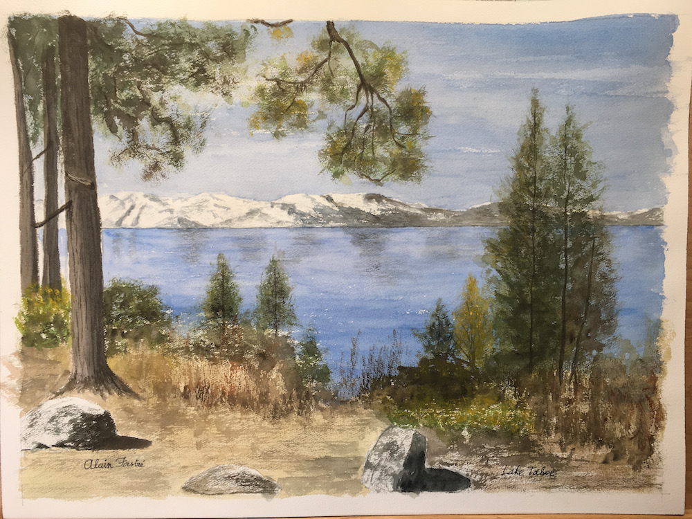 Going into spring Lake Tahoe