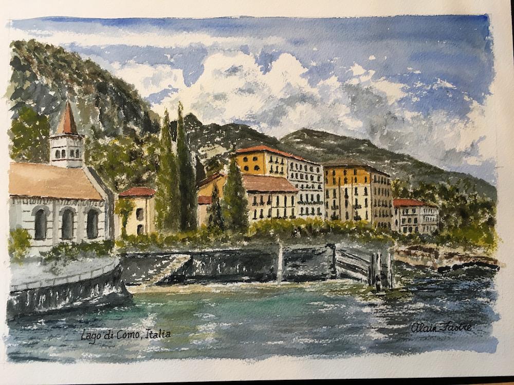Lago di Como citta Como