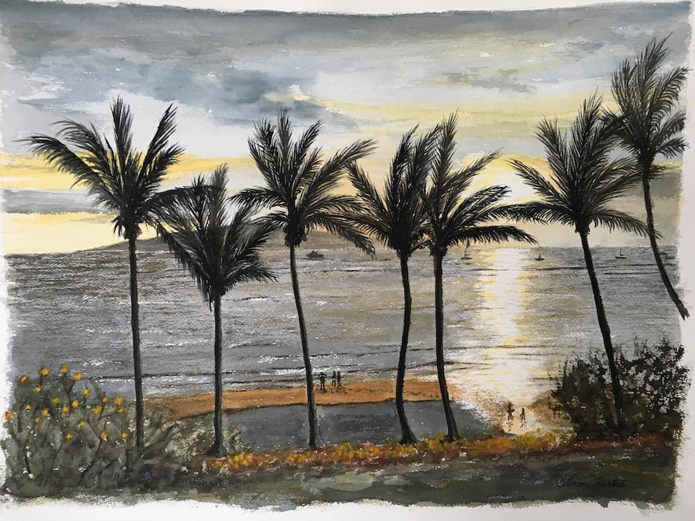 Lahaina shores beach resort sunset