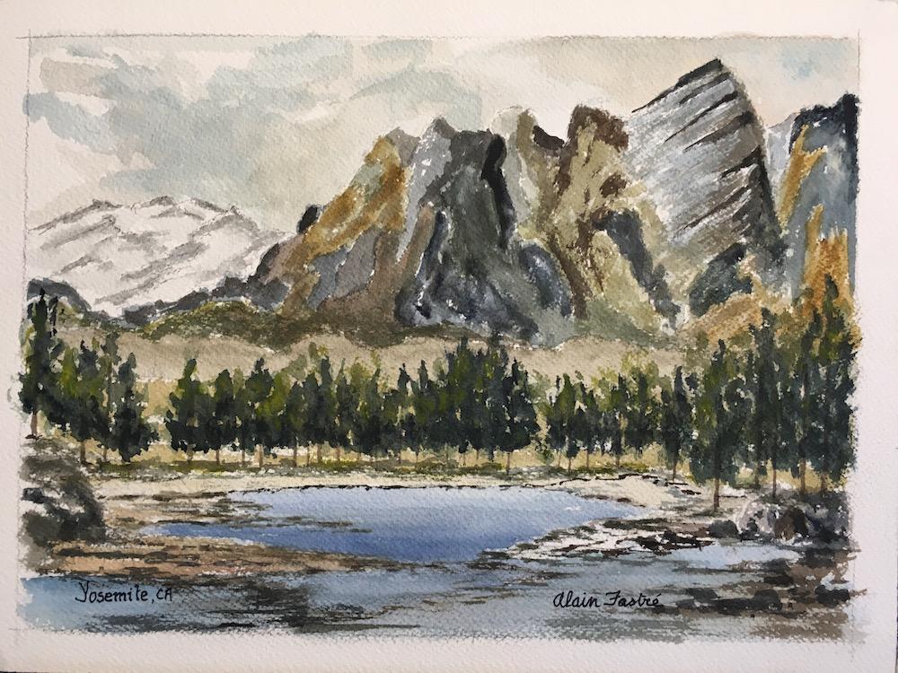 Lake in Yosemite Valley
