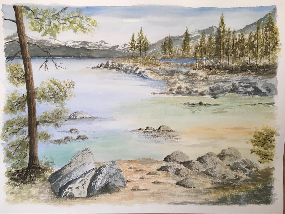 Shallow waters Lake Tahoe