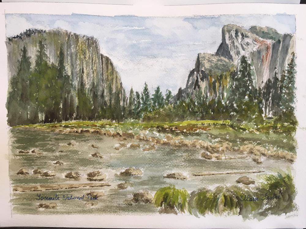 Yosemite Valley marsh with rocks