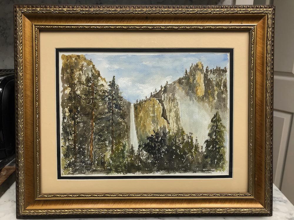 Yosemite waterfall framed