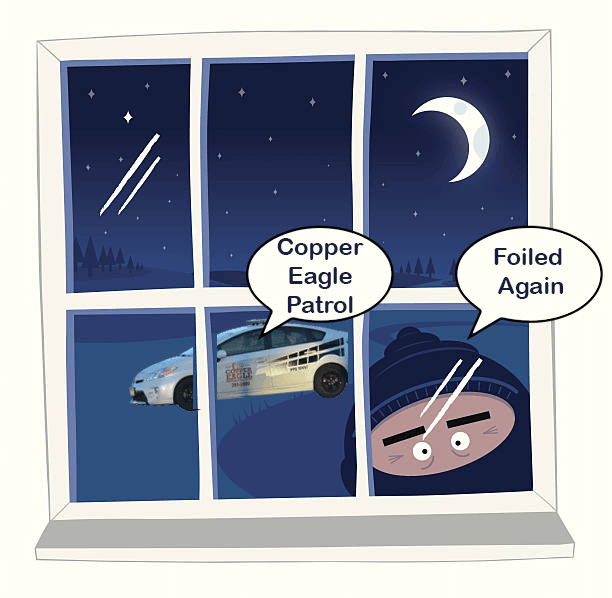 Parking Lots – Prime spots for Thieves – Park Safely! Copper Eagle Patrol