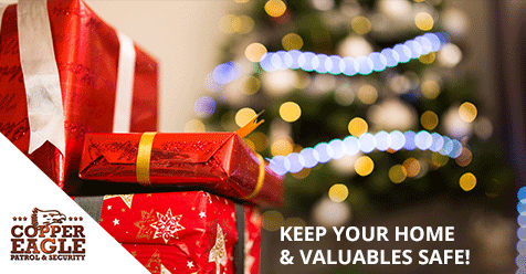 Don't forget to remove your gifts from your car after shopping!   Copper Eagle Security & Patrol