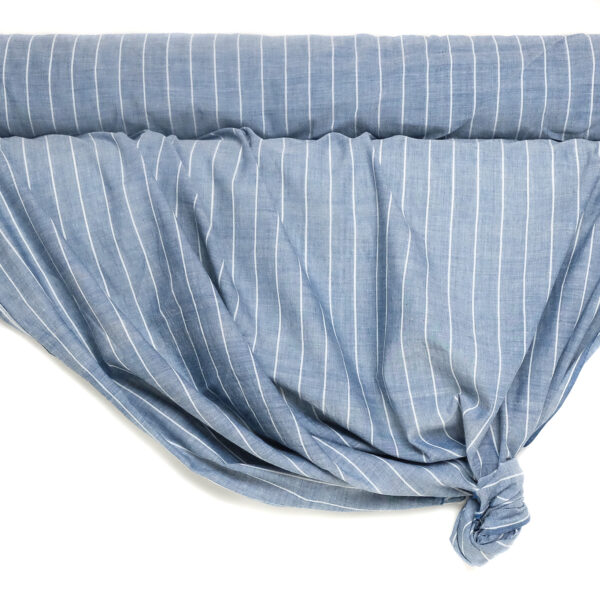 an image of striped indigo dyed fabric