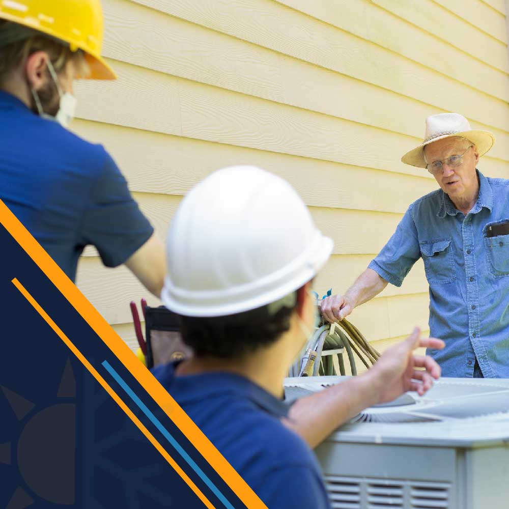 service-techs-talking-to-home-owner-Jeb-Air-houston-tx