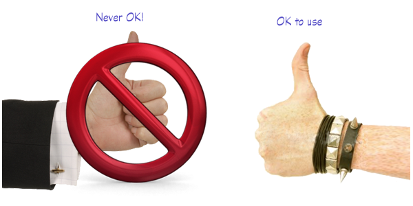 Thumbs up - exceptions