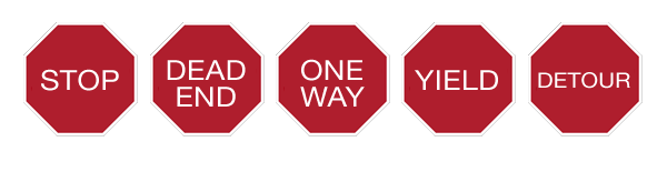 Stop sign graphics for visual voice