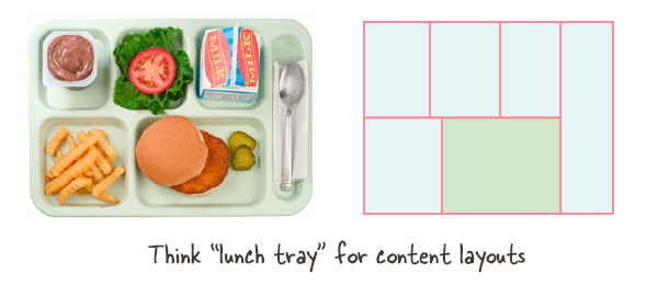 Using lunch trays as layout guides