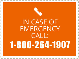 In Case of Emergency Call: 1-800-264-1907