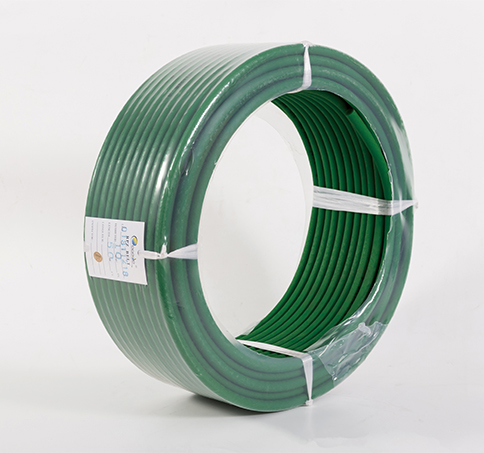 Round PU belt rolled without shaft