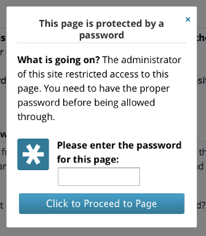 Password Protection Setup