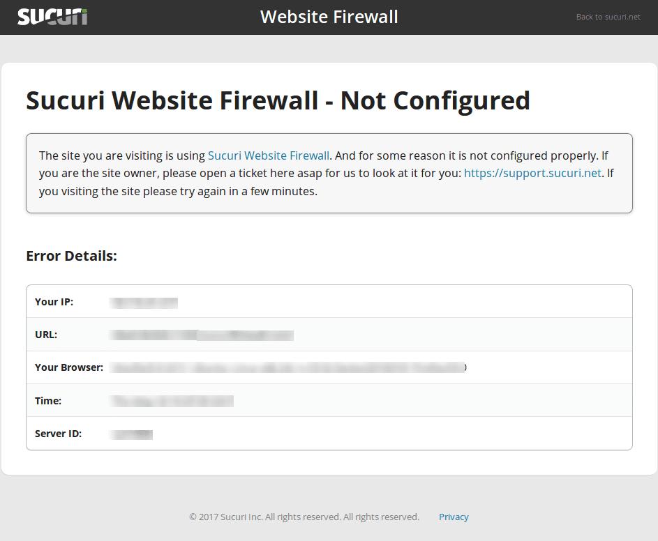 Domain Not Configured