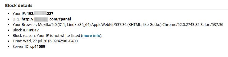 IP Address Restriction Setup