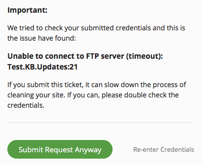 Submit Request Anyway