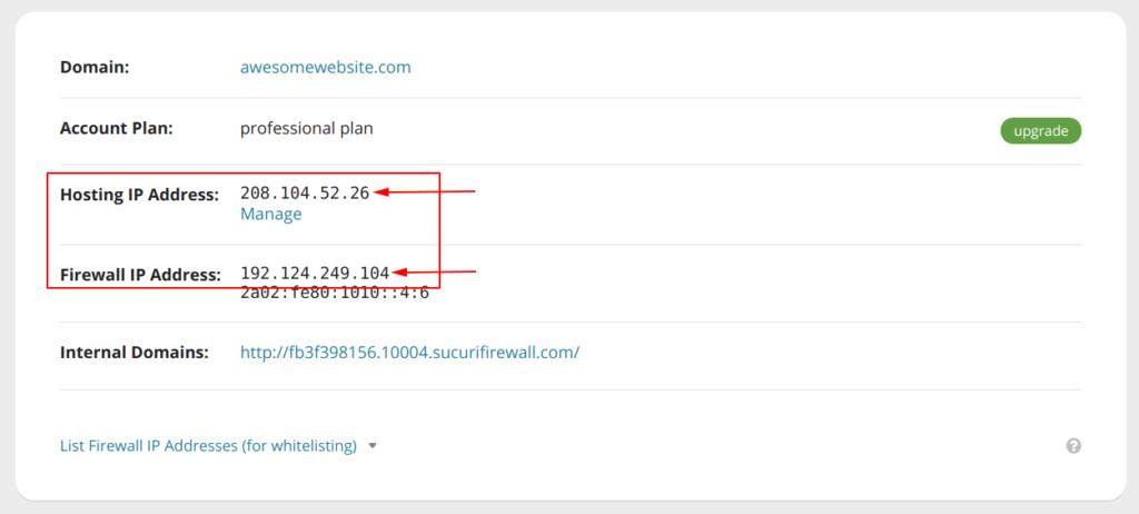 Locate WAF and Hosting IP Addresses