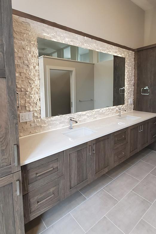Emily Hughes Portfolio: Prairie Modern Master Bathroom