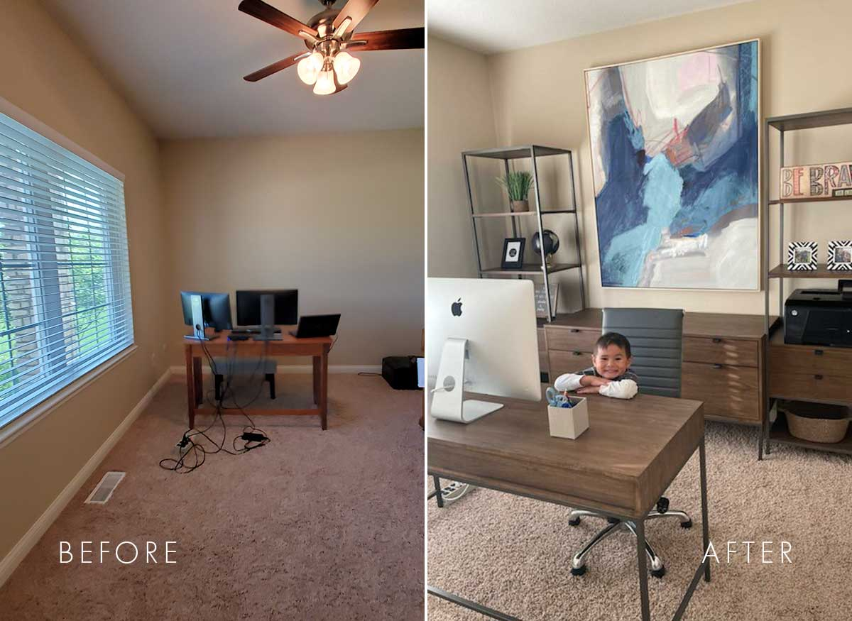 Home Office Transformation Before + After